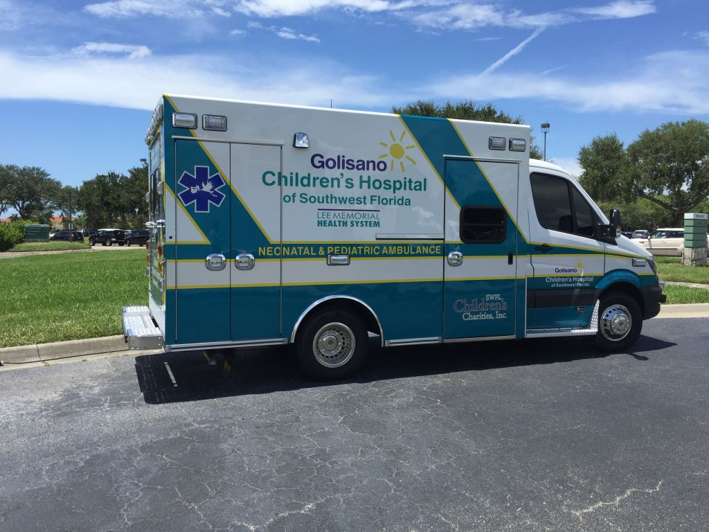 New Ambulance Joins Fleet at Golisano Children's Hospital