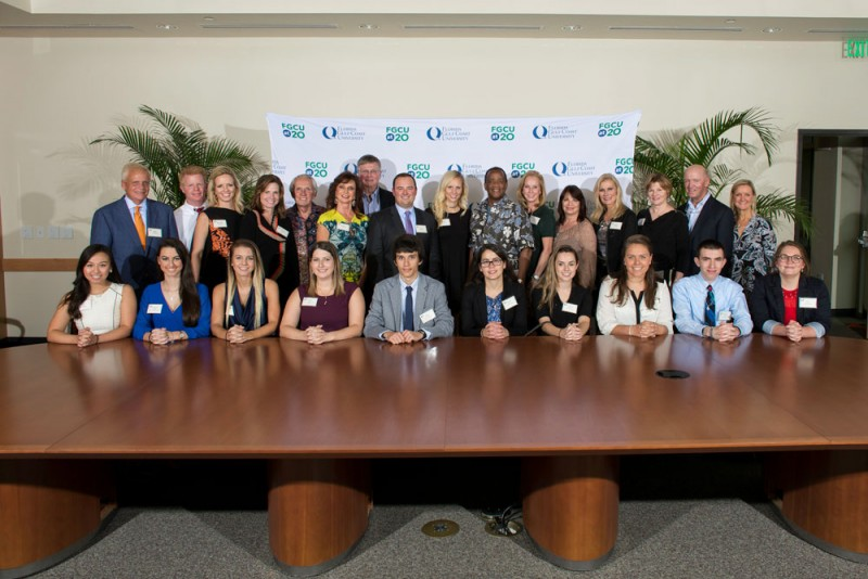 SWFL Children's Charities, Inc. presents $200,000 to Florida Gulf Coast University and Florida SouthWestern State College for scholarships
