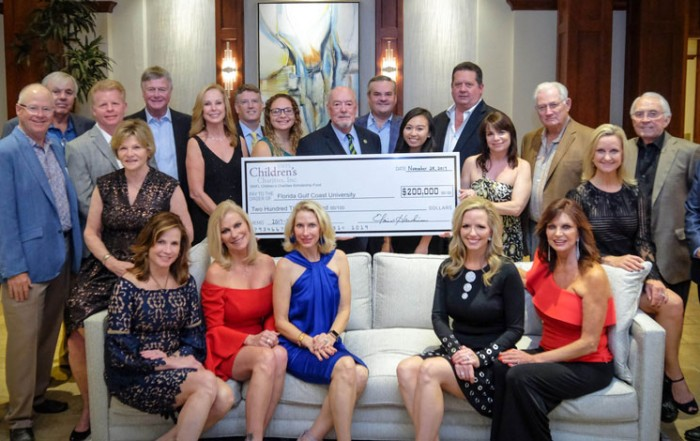 SWFL Children's Charities, Inc. presents $200,000 to Florida Gulf Coast University