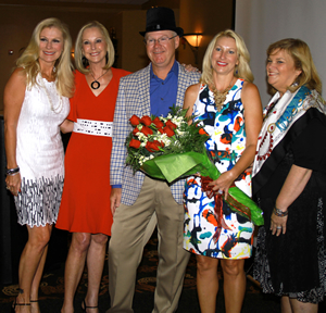 Pitbladdo Holdings LLC is the title sponsor for the 2016 Southwest Florida Wine & Food Fest. Celebrating the announcement were (left to right) 2016 event co-chair Sandy Stilwell, Elaine Hawkins, Richard and Vicki Pitbladdo, and Dorothy Fitzgerald.